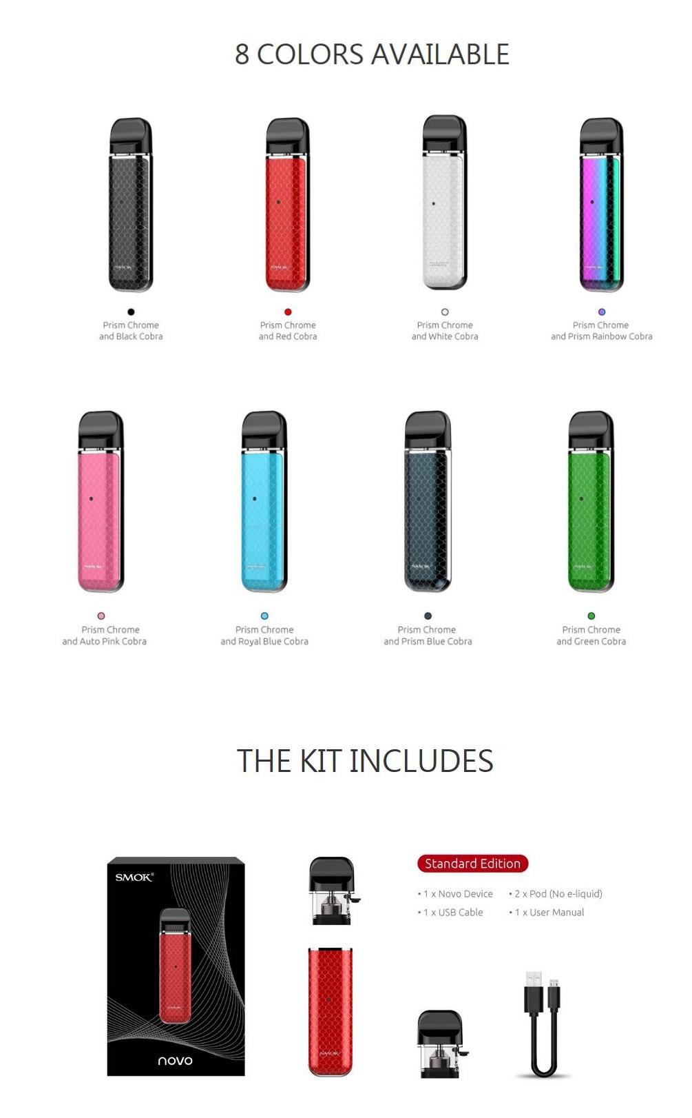SMOK Novo Pod Kit 450mAh(Prism Chrome Cobra Edition) India