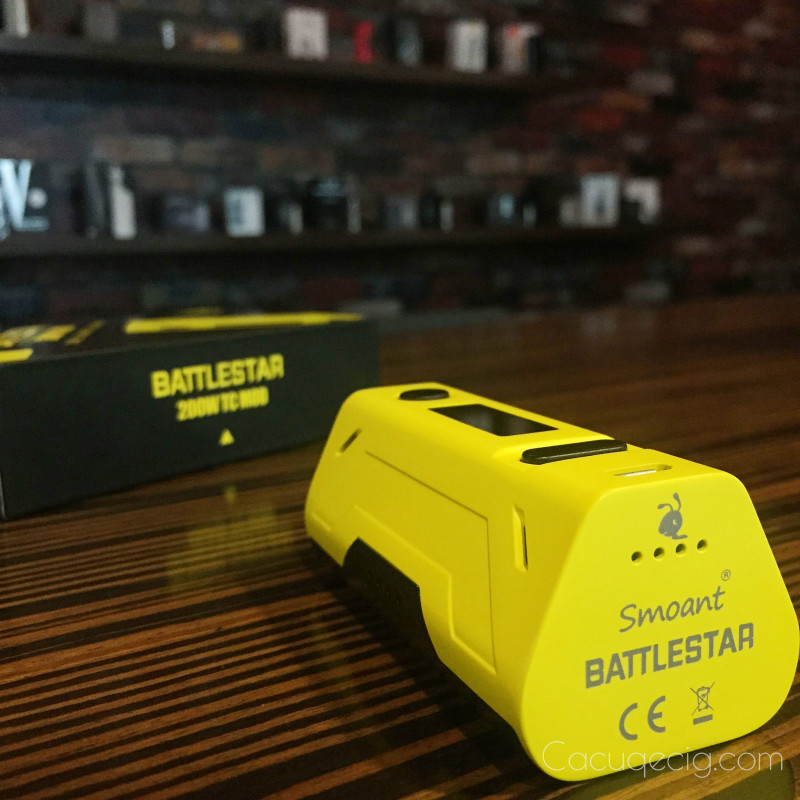 The Smoant Battlestar 200W TC Box Mod max output up to 200w powered .